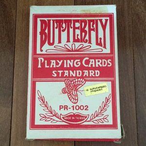Vintage Jumbo Butterfly PR-1002 Red Poker Cards